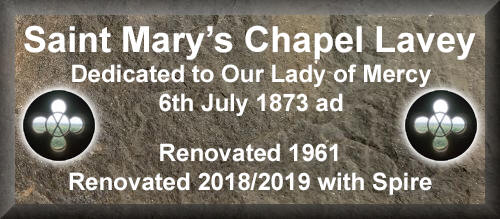 st marys chapel lavey plaque lady of mercy
